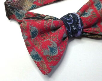 Men's bow tie / custom self tie freestyle self tie - just handmade bowties by Bagzetoile