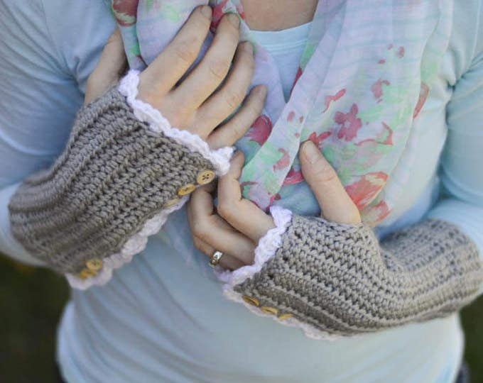 Vintage Inspired Arm Warmers CROCHET Pattern DIGITAL DOWNLOAD