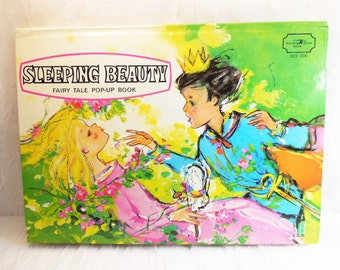 Sleeping Beauty, Pop Up Book by Nutmeg Press, vintage moveable book, three-dimensional