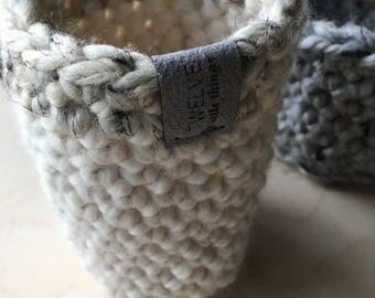 Mini Basket,Storage Basket,Brush Holder,Pen Holder,Home Decor,Bathroom Storage,Toy Storage,Farmhouse,Baskets,Decor,Storage,Knit,Crochet