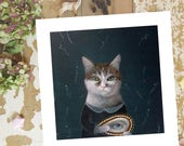 Whimsical CAT art Print Cat PRINT Cat Decor Cat PAINTING  Cat Wall Art Cat Illustration Cat Wall Decor Artwork Poster, Cat Lover Gift