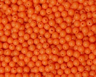 6mm Round Orange Beads 500pc
