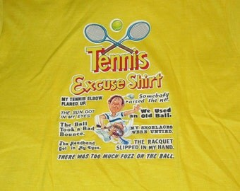 80s Tennis Excuse shirt vintage print medium Screen Stars