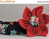 Sale 15% Off Dog Collar  with Flower - Daysail Blooms - All Sizes