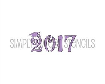 2017 Graduation Stencil