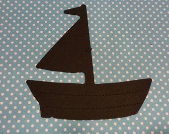 Boat Die Cut 10 CT- Die Cut- Cutout- Custom Colors Available