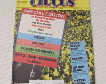 Vintage Circus Magazine March 1981 - ACDC Centerfold Poster