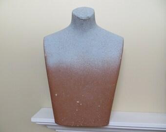Mannequin Torso Male / Mid Century fiberglass / 23 X 17 X 7 inches