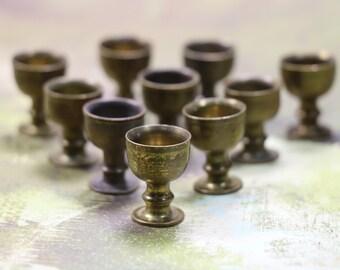 1 Miniature Brass Goblet Cup