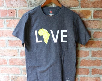 LOVE Africa T-shirt: Medium Celery
