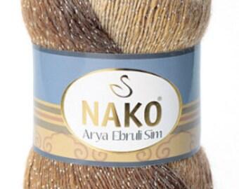 Shiny, alpaca yarn, wool yarn, acrylic yarn, tinsel, crochet, angora, color changing, yarn, knitting,nako yarn, knit 400grams