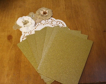 5x7 Glitter Cardstock for DIY Invitations // Wedding Invitations // Birthday Invitations // A7 // 25 sheets