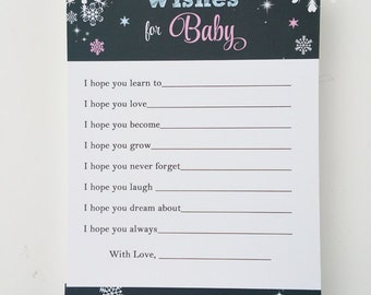 Wishes for Baby Printable - Instant Download - Baby It's Cold Outside Collection