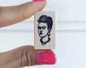Frida Kahlo Wood Mounted Rubber Stamp (small version)
