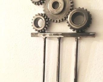 Industrial Chic Steampunk Key holder /pet leash holder