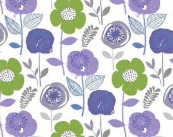 BTY Lilac Bloom Fabric Cotton By The Yard