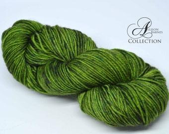 Hand Dyed Superwash Merino Wool Yarn - Worsted weight - Shaded Moss