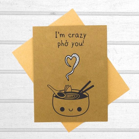 Pho Love Card Valentines Day Card Boyfriend Card Kawaii – Valentine Cards Boyfriend