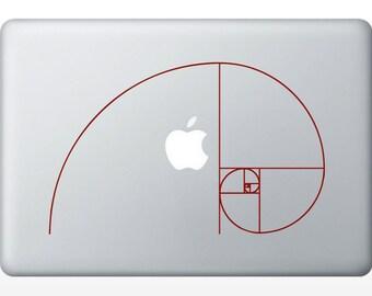 Fibonacci Spiral vinyl Wall DECAL- Sacred geometry, sticker art, rainbow Holographic