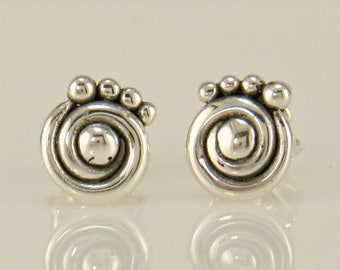 ER602- Sterling Silver Post Earrings- One of a Kind