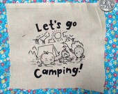CUTE PATCH lets go camping