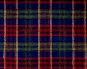 Custom Window Curtain Panels Waverly Tartan Flannel Unlined Drapes 50x84