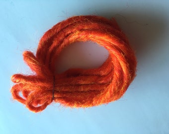5 DE Double Ended Synthetic Dreads Bright Orange Dreadlock Braid Hair Extensions