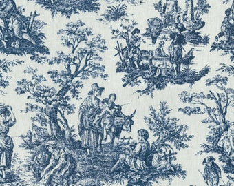 Waverly Upholstery Fabric-Rustic Toile Black