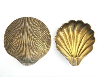 Vintage Brass Shell Wall Hanging