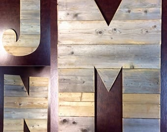 "Large Rustic Wood Letter 12""-20"" Tall Any Letter, Farmhouse, Cabin Industrial Decor, Barn Style"