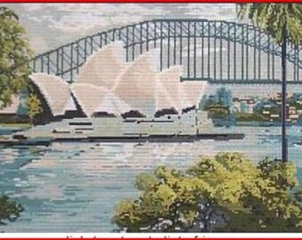 Needlepoint Canvas: Opera House Australia Last One