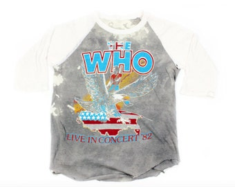 The Who Live in '82 Baseball Tee