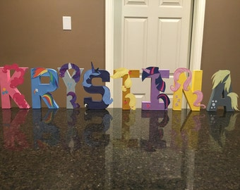 My Little Pony Custom Name Letters - price is per letter
