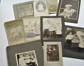 Vintage Photos, Antique Photos of Children, Child Photos, Victorian Cabinet Cards, 10 Antique Photographs