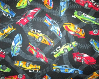 Realistic Nascar Race Car Tracks Black Cotton Fabric Fat Quarter Or Custom Listing