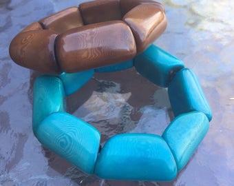 SALE: Set of Tagua Bangles, Tagua, Boho Jewelry, Boho chic, Summer Fashion, Sustainable Fashion