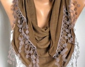Milky Brown Shawl Scarf -  Cowl,Gift for her,Women scarves,fashion accessories