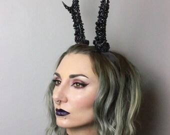 Crystalised antler headband