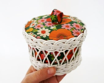 Vintage Small Sewing Craft Basket Box