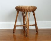 Rattan Plant Stand Stool