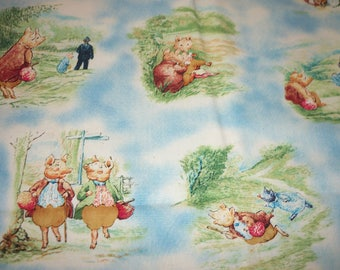Beatrix Potter Fabric The Tale of Pigling Bland  By Fat Quarter New BTFQ