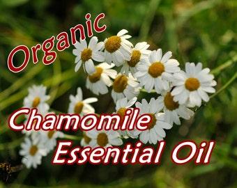 ROMAN CHAMOMILE Essential Oil 2 oz size; Pure, Organic, Full Strength
