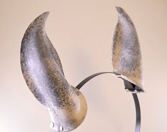 Dappled Speckled Gray and White Painted Leather Horse Ears Equine Pony Cosplay Furry Fairy Fantasy LARP Costume