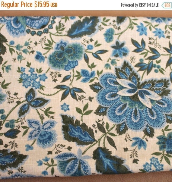 Upholstery Fabric,Home Decor Fabric,Flower Fabric,Floral Fabric,Vintage Reproduction Fabric,Crisp Hand,Cotton Duck Fabric,By The YARD