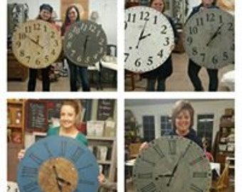 Farmhouse Clock  Milk Paint 101 Workshop March 2017 at SimplyHomeSweetHome