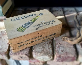 Vintage Galliano Wooden Box Crate