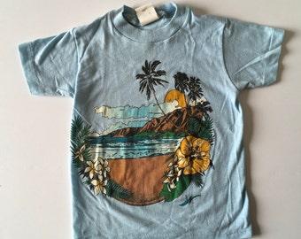 1980's Blue Beach Tee (6x)