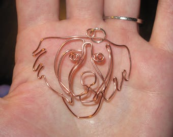 Wire Wrapped Brittany Spaniel Or Any Other Dog Pendant MADE to ORDER