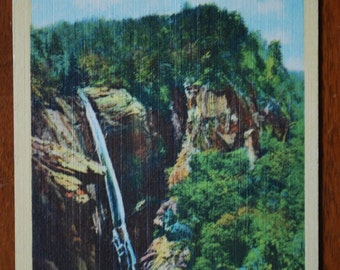 Vintage Linen Postcard - North Carolina -  - Chimney Rock - 1950's - Scenic  - Midcentury Souvenir
