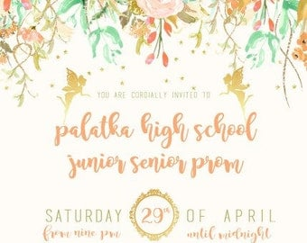 Fairy tale Garden Invitation